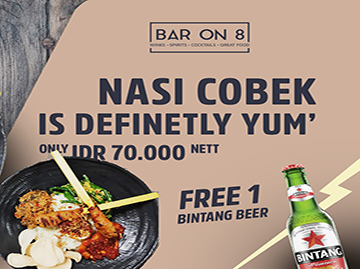 balinese food promo with beer
